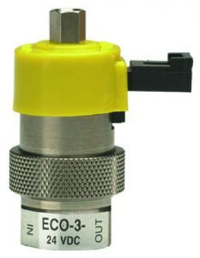 3-way solenoid valve / in-line / nickel-plated brass / vacuum - 12 V, max. 105 psi, 0.25"