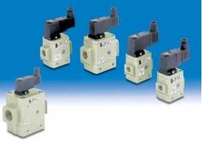 3-way solenoid valve / pneumatic / air - AV series