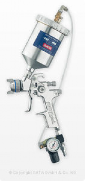 Paint spray gun / for high-viscosity materials / gravity feed